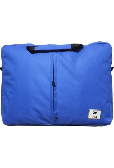 "Tkz Cat-01 Dikişli Askılı 15.6"" Notebook Çantası Mavi"