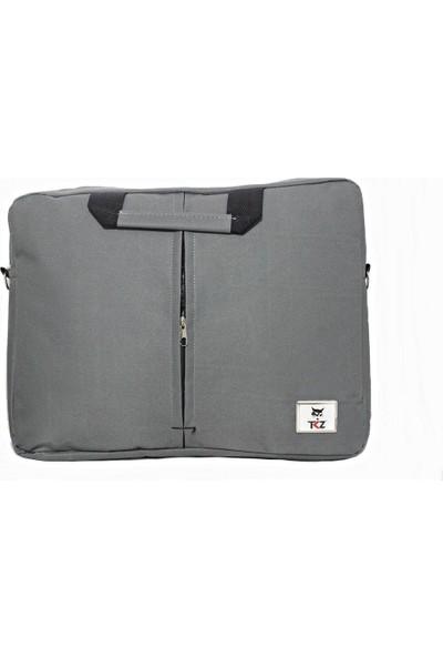 "Tkz Cat-01 Dikişli Askılı 15.6"" Notebook Çantası Gri"