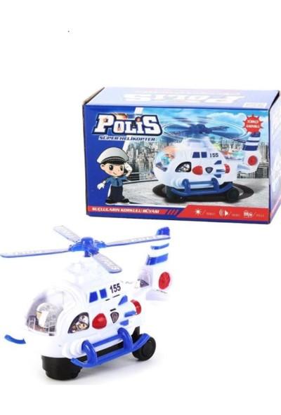Can Pilli Işıklı Sesli Oyuncak Polis Helikopter