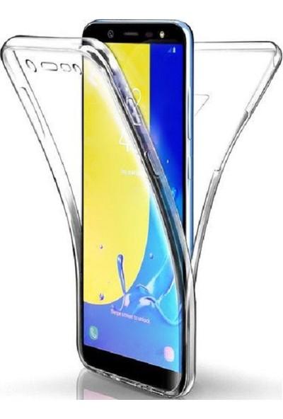 Samsung Galaxy J8 Ön Arka Şeffaf 360 Derece Tam Korumalı Kılıf