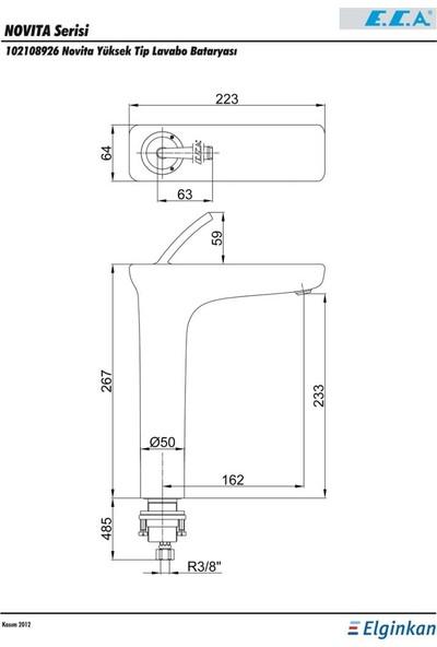 ECA Novita Yüksek Tip Lavabo Bataryası