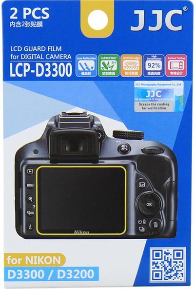 JJC LCP-D3300 LCD Ekran Koruyucu Film 2'li Paket Nikon D3500 D3400 D3300 D3200