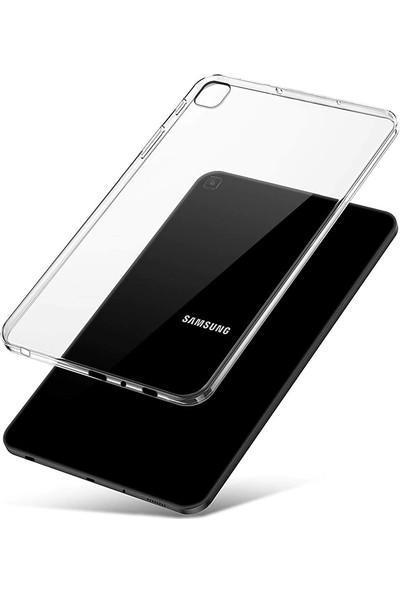 Redpoloshop Samsung Galaxy Tab A 8.0 Kılıf T290 T295 Şeffaf Yapışmaz Silikon - Şeffaf