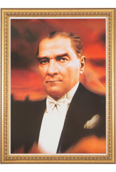İnter 50x70 Varaklı Duvar Monte Atatürk Portresi INT-031