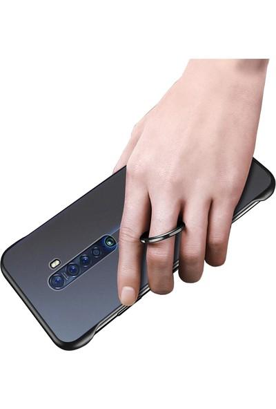 Microcase Oppo Reno 2Z Frameless Serisi Sert Rubber Kılıf Siyah