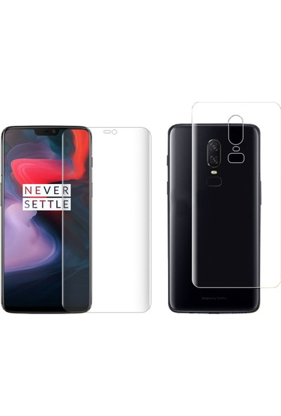 Microcase OnePlus 6 Full Ön Arka Kaplama TPU Soft Filmi