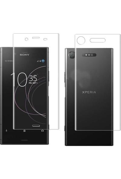 Microcase Sony Xperia XZ1 Full Ön Arka Kaplama TPU Soft Filmi