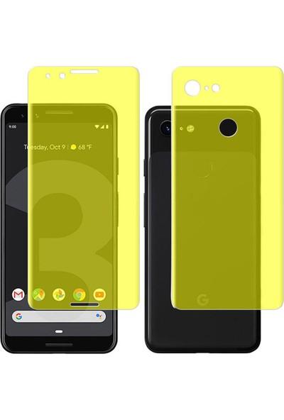Microcase Google Pixel 3 Full Ön Arka Kaplama TPU Soft Filmi