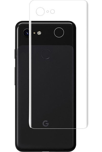 Microcase Google Pixel 3 Full Arka Kaplama TPU Soft Filmi