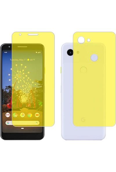 Microcase Google Pixel 3A XL Full Ön Arka Kaplama TPU Soft Filmi