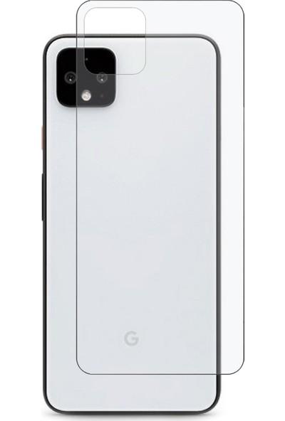 Microcase Google Pixel 4 XL Full Arka Kaplama TPU Soft Filmi