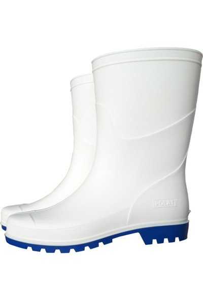 Polat Pvc Beyaz Çizme – İş Çizmesi 27 cm