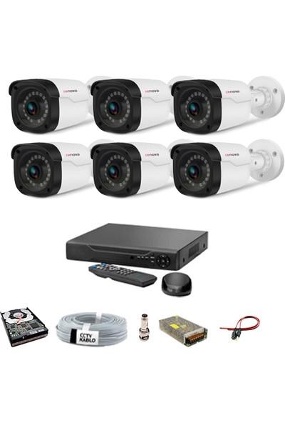 Proje Kamera 6 Kameralı Güvenlik Sistemi Dış-Mekan-Hdd-Jack-Bnc-Konnektör