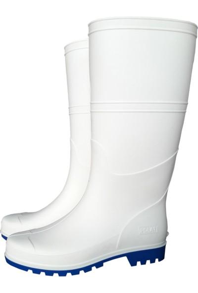 Polat Pvc Beyaz Çizme Uzun – İş Çizmesi 38 cm