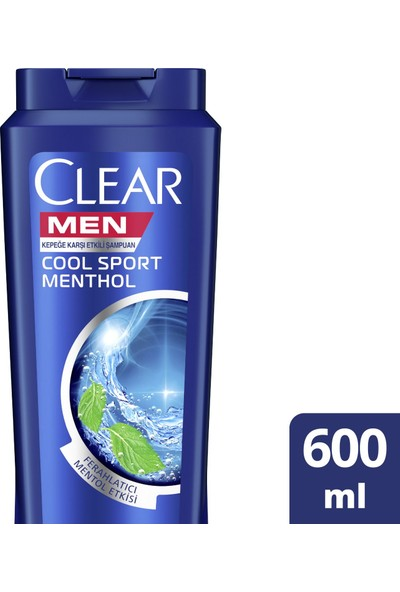 Clear Men Cool Sport Menthol Erkek Şampuan 600 ML