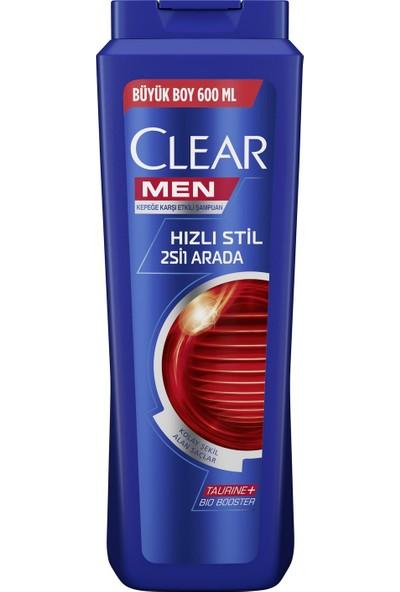 Clear Men Hızlı Stil 2si1 Arada Şampuan 600Ml