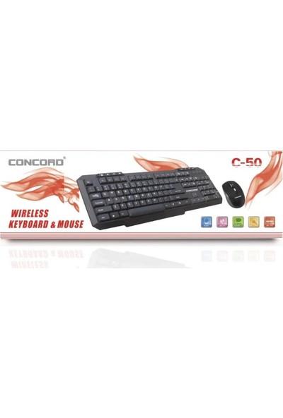 Concord C-55 Kablosuz Klavye Optik Mouse Seti