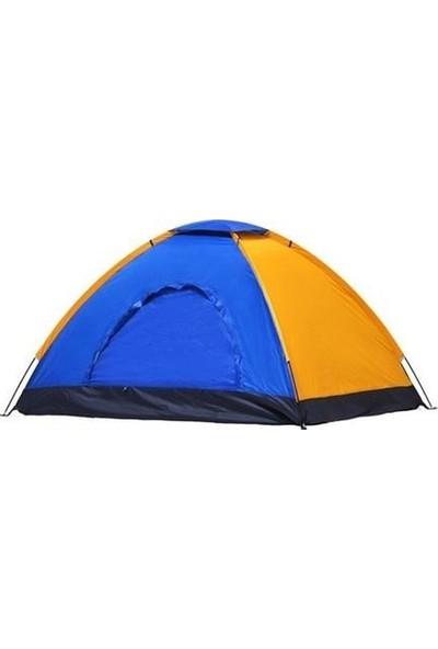 Onetick 4 Kişilik Renkli Dayanıklı Kamp Çadırı 200X200X135