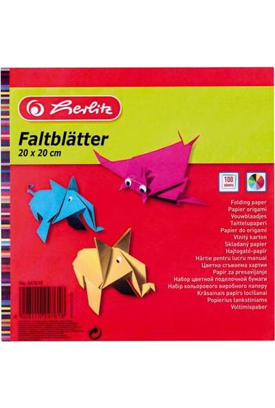 Herlitz Origami Kağıdı 20 x 20 10 Renk 100 Sayfa