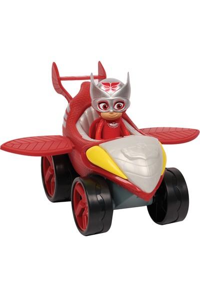 Pj Masks Power Racers Araçlar - Baykuş Kız ile Baykuş Planörü