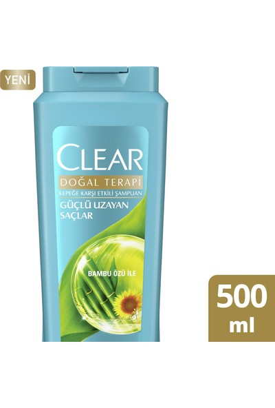 Clear Güçlü Uzayan Saçlar Kadın Şampuan 500 ML