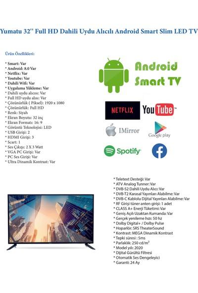 "Yumatu 32SMT3201 32"" 81 Ekran Uydu Alıcılı FHD Android Smart LED TV"