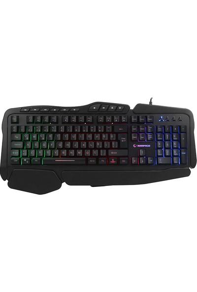Everest Rampage Meepo Plus KM-4-1 Gökkuşağı Aydınlatmalı USB Gaming Combo Q Oyun Klavye+Mouse+Pad+Kulaklık