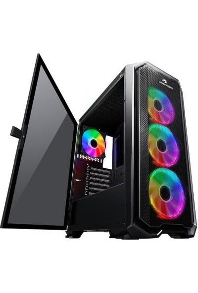GameBooster GB-G2112B USB3.0 Ring ARGB Halo fan Mesh Panel RGB Strip Kasa (PSU Yok) JBST-GBG2112B