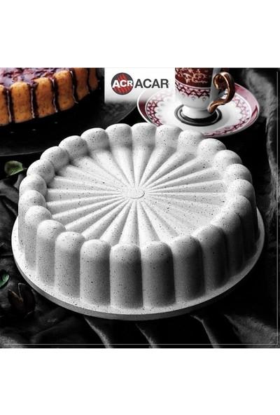 Acar Cast Tasty Döküm 26 cm Büyük Boy Kek-Tart Kalıbı Beyaz