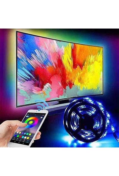 Triline Tv Arkası Bluetooth Rgb Usb Led Şerit Aydınlatma 16 Renk 3 m
