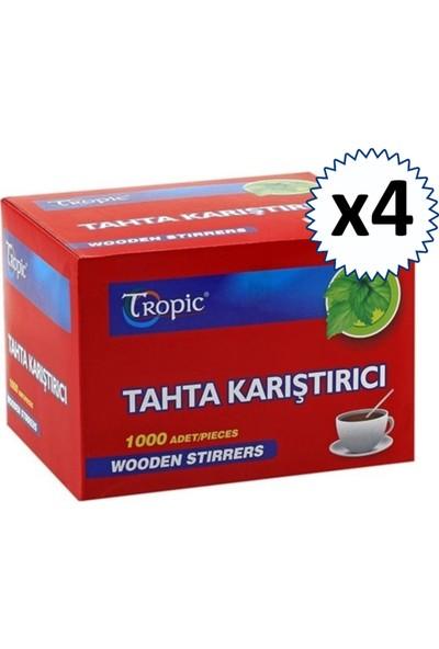 Tropic Çay Kahve Tahta Karıştırıcı 1000'li x 4