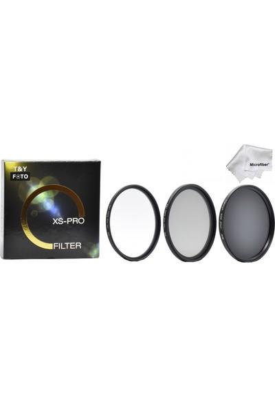 Tianya 58mm XS-PRO Slim Koruyucu Uv + Slim CPL Circular Polarize + Nd8 Uzun Pozlama 3 Stop ND Filtre Seti