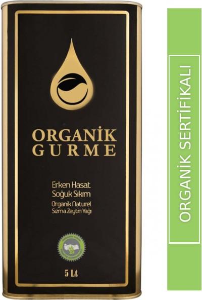 Organik Gurme - Naturel Sızma Soğuk Sıkım Organik Zeytinyağı 5 lt