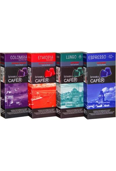 Istanbul Cafer Nespresso Uyumlu Set -4'lü - 40'lı