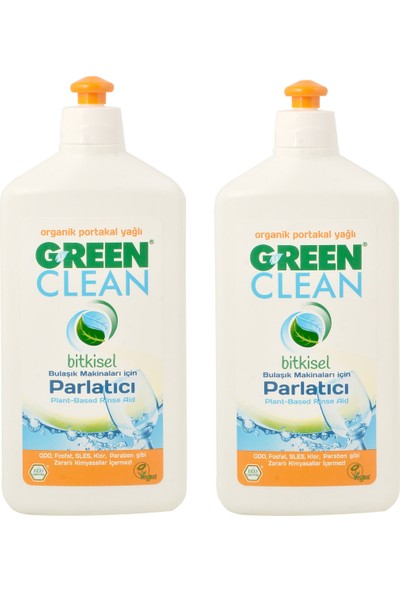 U Green Clean Bitkisel Bulaşık Makinesi Parlatıcı 500 ml - 2 Adet