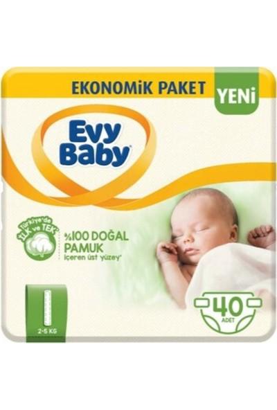 Evy Baby Bebek Bezi 1 Beden Yenidoğan 54 Adet Yeni Paket