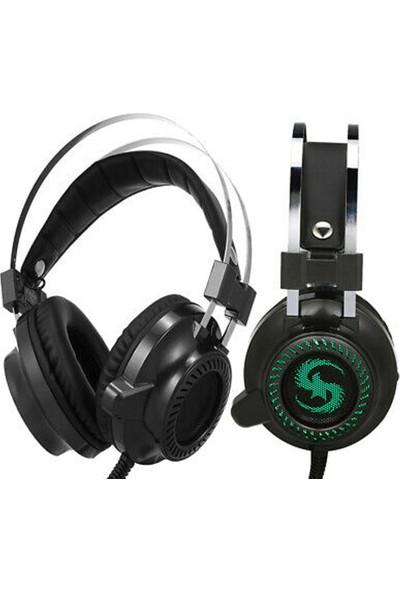 Coverzone Kulak Üstü Işıklı Mikrofonlu Oyuncu Kulaklık