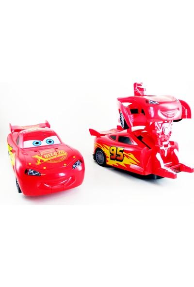 Dekor Cars Şimşek Mcqueen Robota Dönüşen Araba