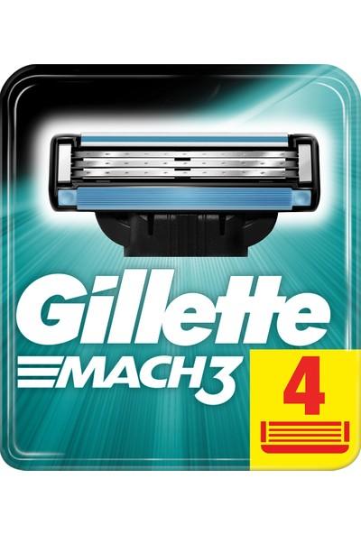 Gillette Mach3 Yedek Tıraş Bıçağı 4'lü