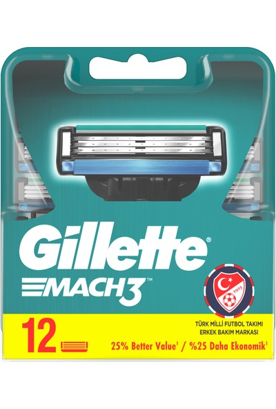 Gillette Mach3 12'li Yedek Tıraş Bıçağı