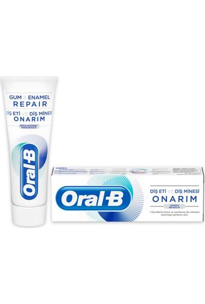 Oral-B 75 ml Diş Eti ve Diş Minesi Onarım Hassas Beyazlık Diş Macunu