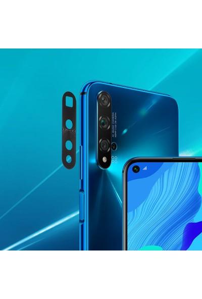 Microlux Huawei Nova 5T Kamera Koruyucu Tam Kaplama