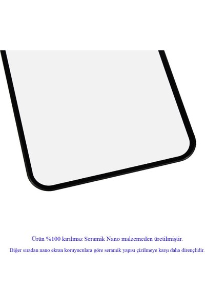 Microlux iPhone XR Ekran Koruyucu Seramik Nano 9D Tam Kaplama