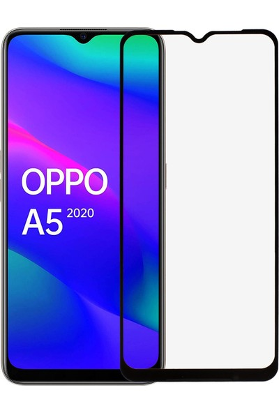 Microlux Oppo A5 2020 Ekran Koruyucu 9D Tam Kaplama