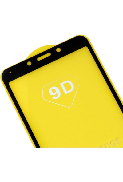 Microlux Xiaomi Redmi 6 Ekran Koruyucu 9D Tam Kaplama