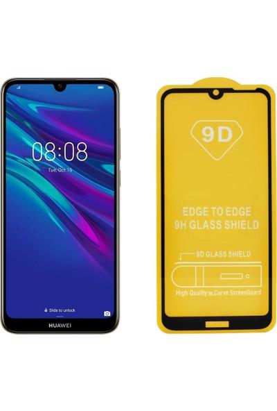 Microlux Huawei Y6 2019 Ekran Koruyucu 9D Tam Kaplama