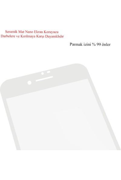 Microlux iPhone 8 Plus Ekran Koruyucu Mat Seramik Nano 9D Tam Kaplama