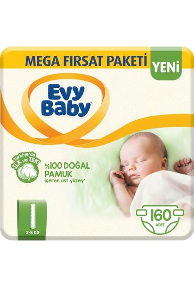 Evy Baby Bebek Bezi 1 Beden Yenidoğan Paketi 160'lı