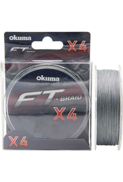 Okuma Ft-X4 Braided Line Grey Örgü Ip Olta Misinası 300MT