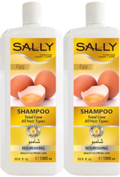 Sally Saç Şampuan Egg 1 Litre - Tüm Saç Tipleri - 2 Adet